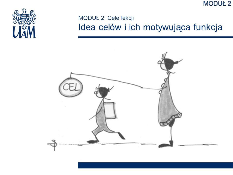 MODUŁ 2: Cele lekcji Idea celów i ich motywująca funkcja