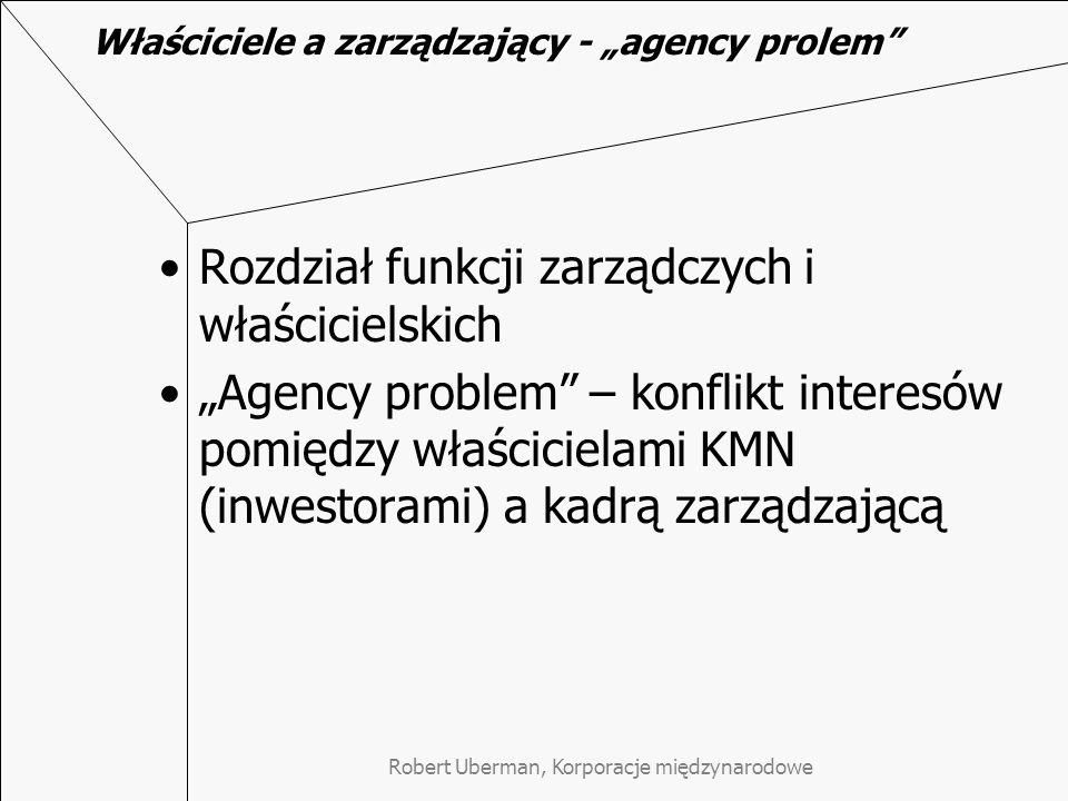 """Właściciele a zarządzający - """"agency prolem"""