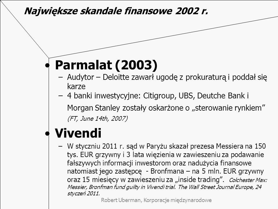 Największe skandale finansowe 2002 r.