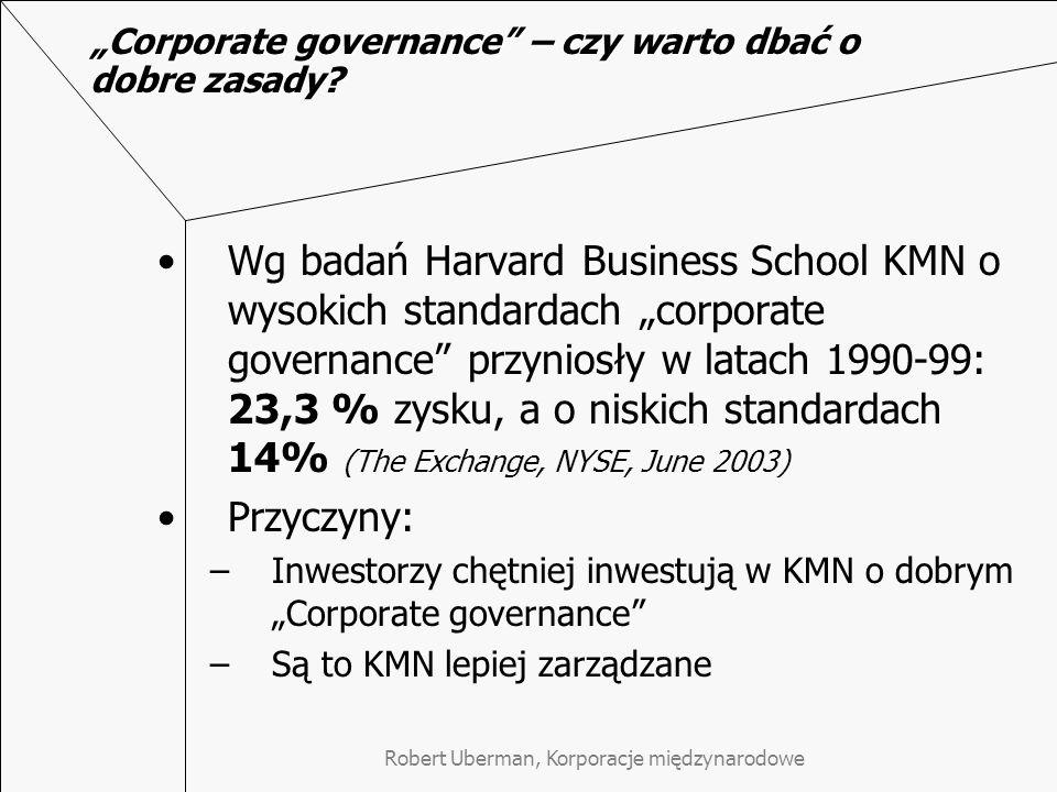 """Corporate governance – czy warto dbać o dobre zasady"