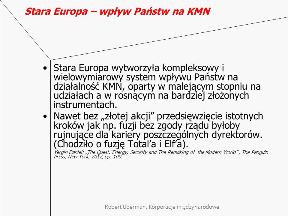 Stara Europa – wpływ Państw na KMN