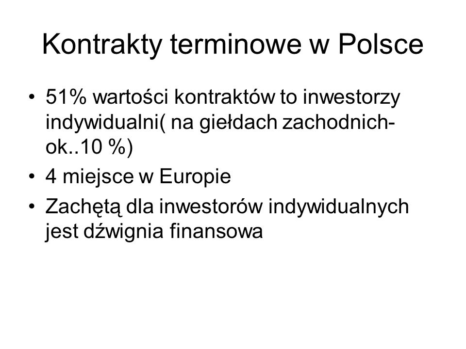 Kontrakty terminowe w Polsce