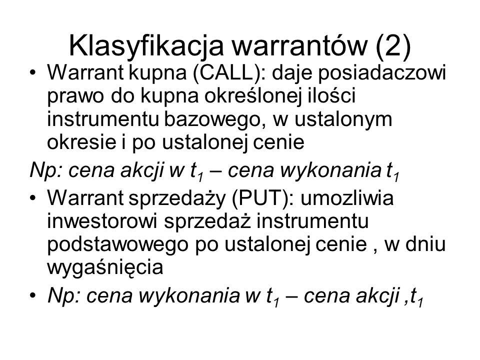 Klasyfikacja warrantów (2)