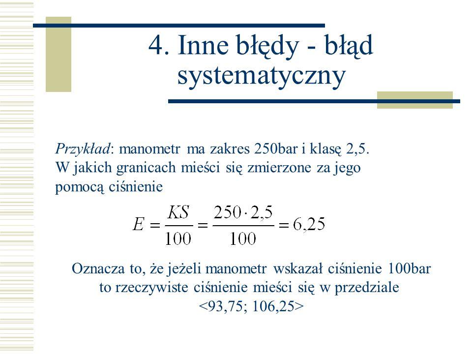 4. Inne błędy - błąd systematyczny
