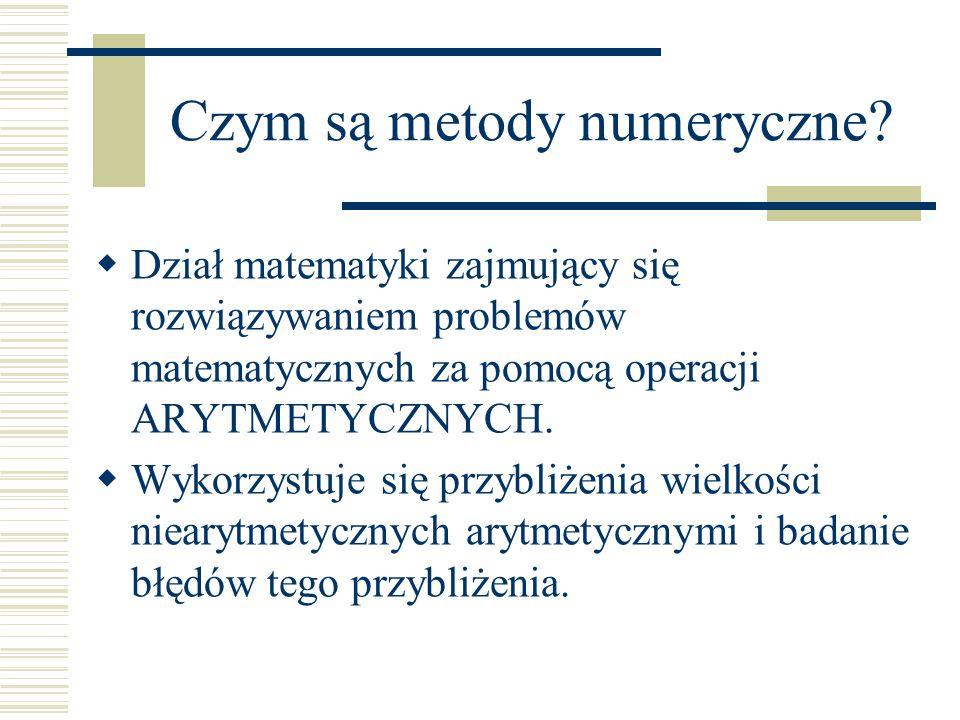 Czym są metody numeryczne