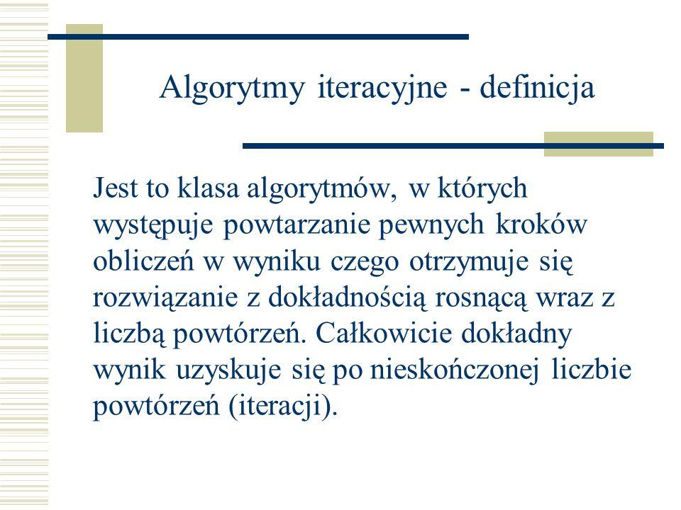 Algorytmy iteracyjne - definicja