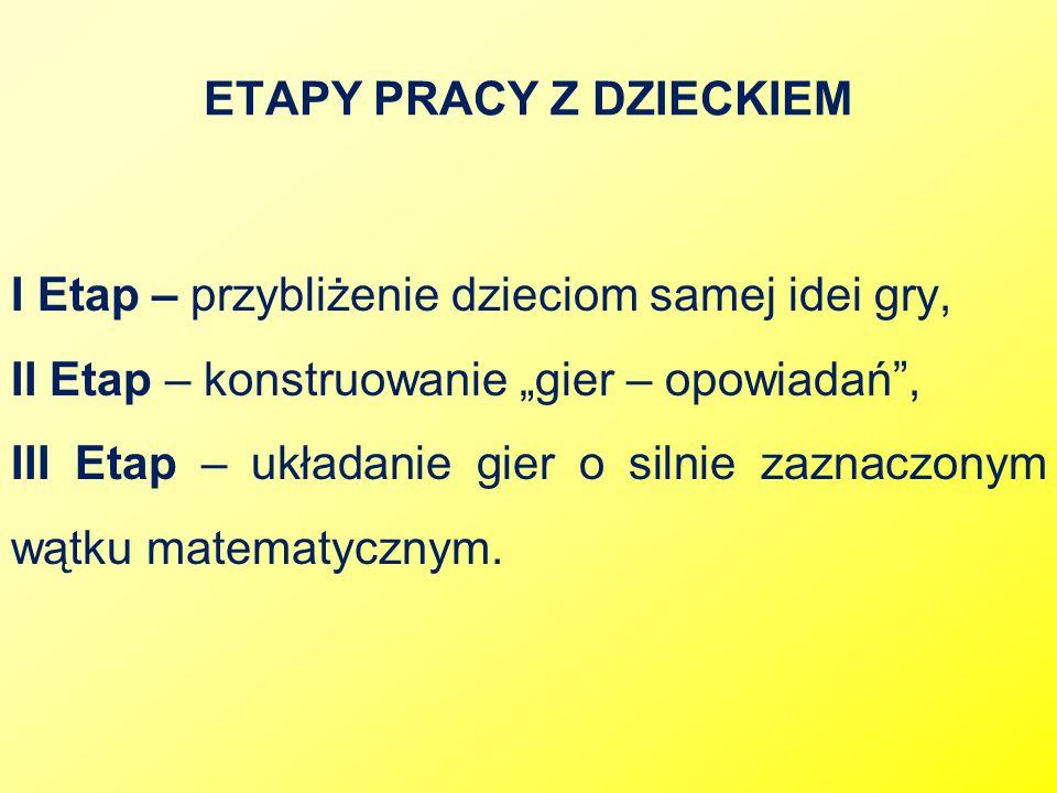 ETAPY PRACY Z DZIECKIEM