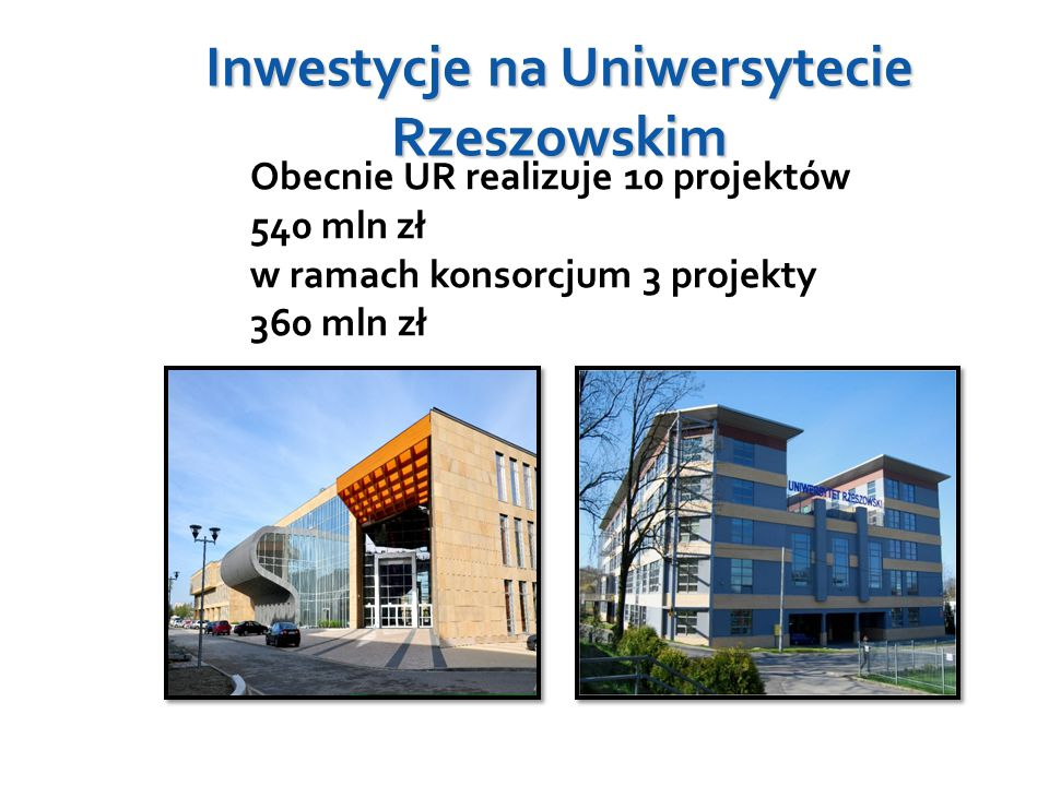 Inwestycje na Uniwersytecie Rzeszowskim