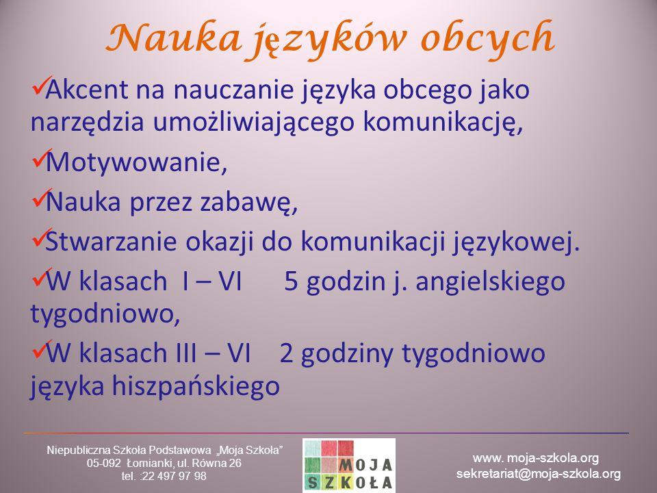 Nauka języków obcych Akcent na nauczanie języka obcego jako narzędzia umożliwiającego komunikację, Motywowanie,