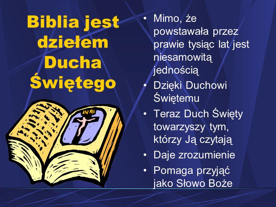 Biblia jest dziełem Ducha Świętego