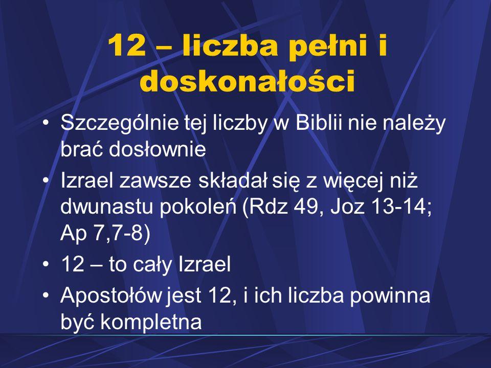 12 – liczba pełni i doskonałości