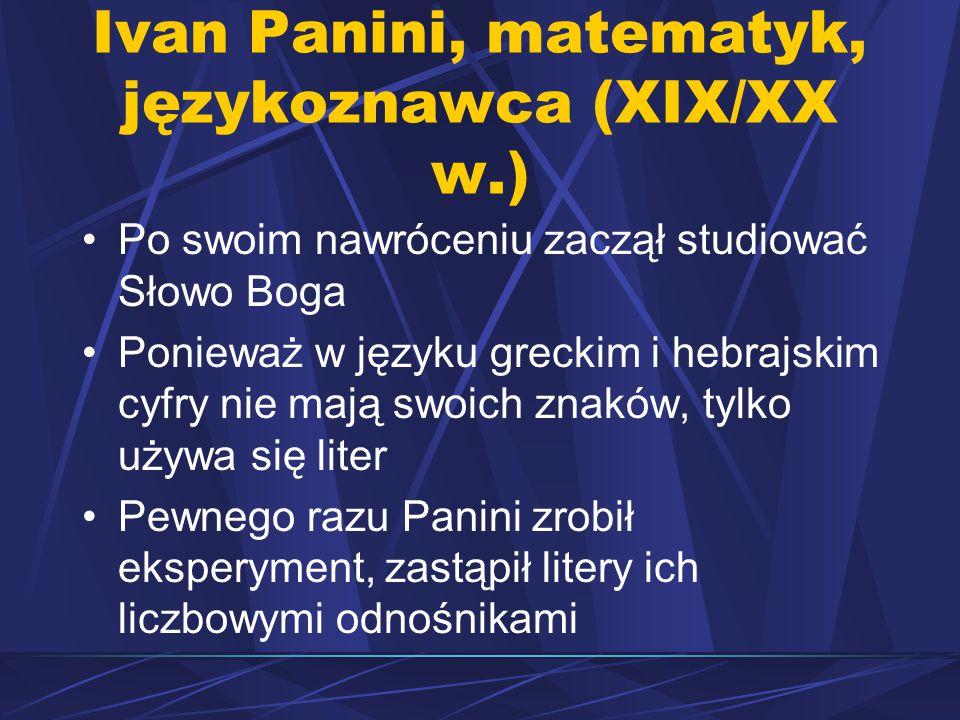 Ivan Panini, matematyk, językoznawca (XIX/XX w.)