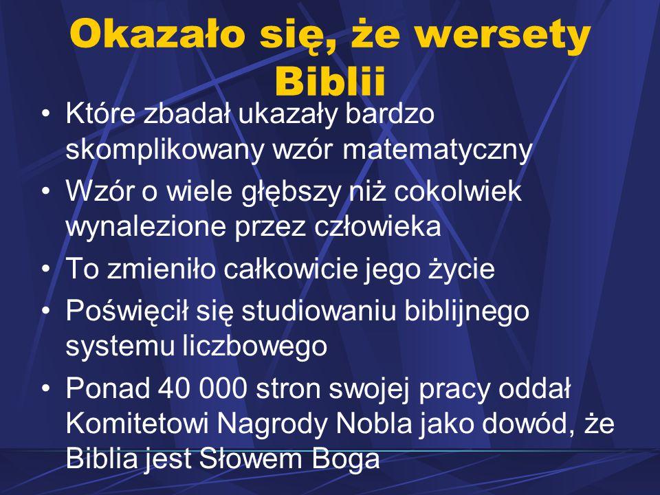 Okazało się, że wersety Biblii