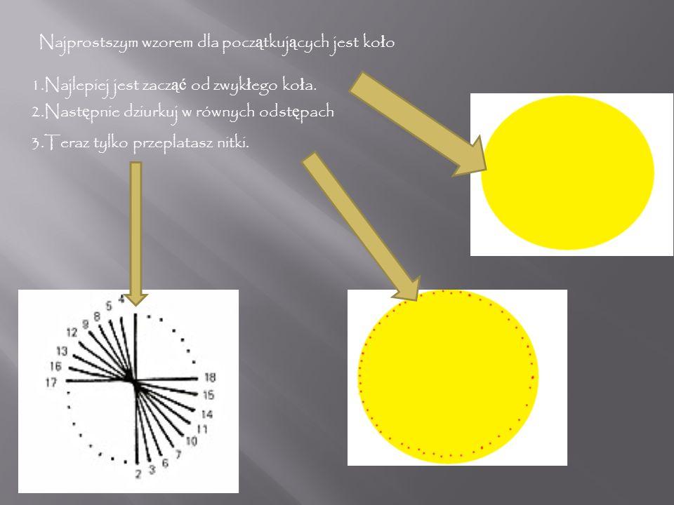 Najprostszym wzorem dla początkujących jest koło