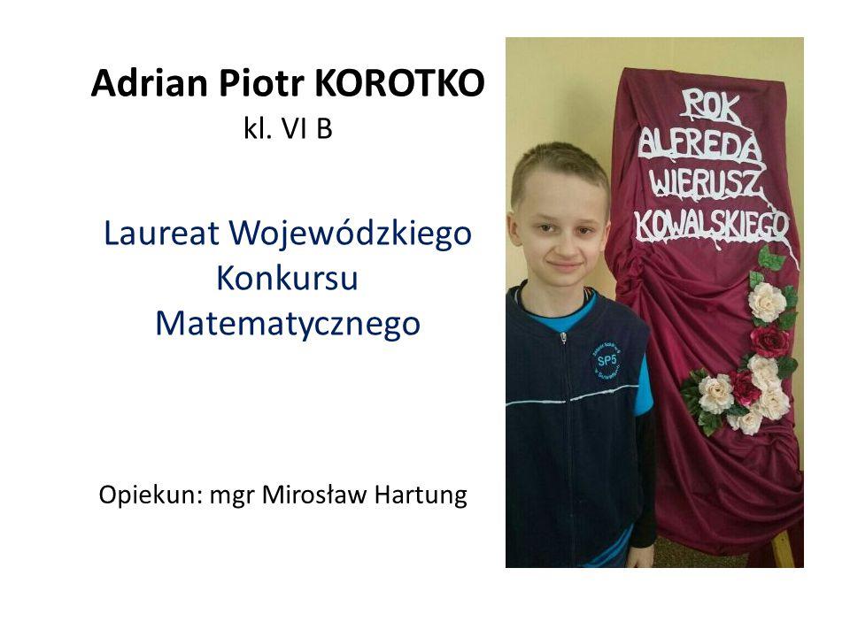 Adrian Piotr KOROTKO kl. VI B