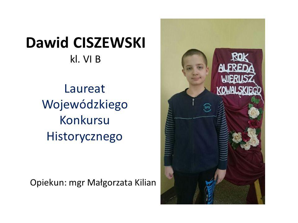 Laureat Wojewódzkiego Konkursu Historycznego