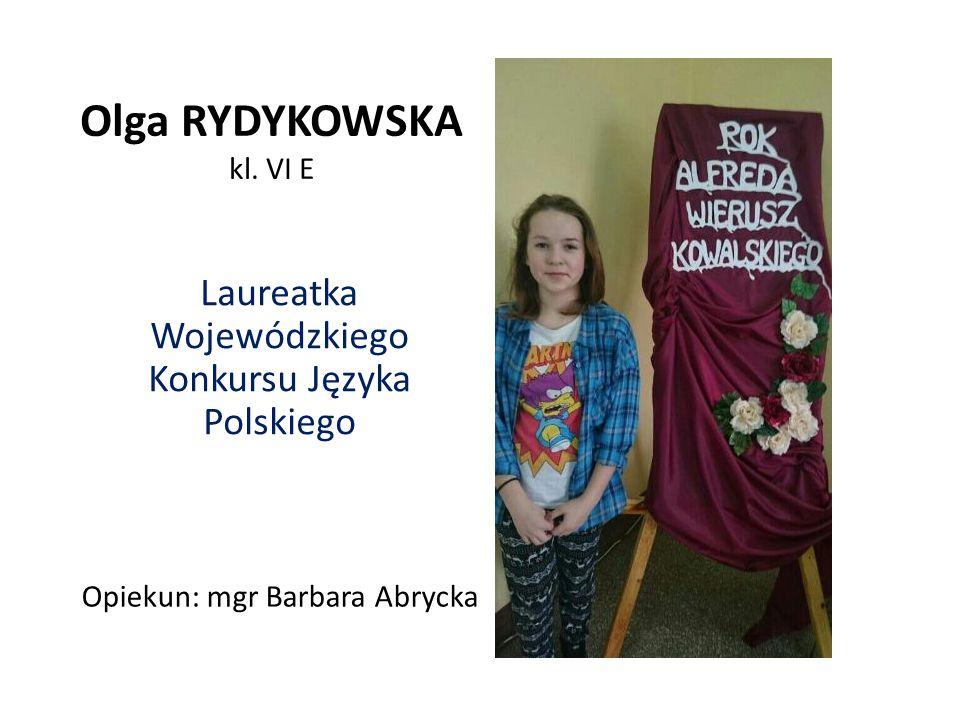 Laureatka Wojewódzkiego Konkursu Języka Polskiego