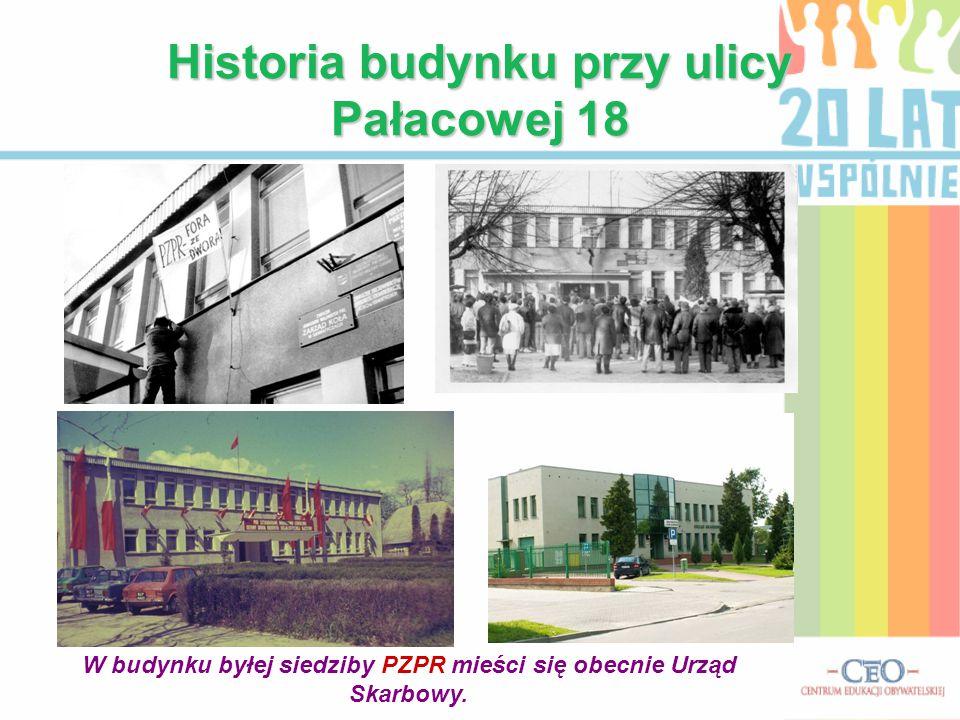 Historia budynku przy ulicy Pałacowej 18