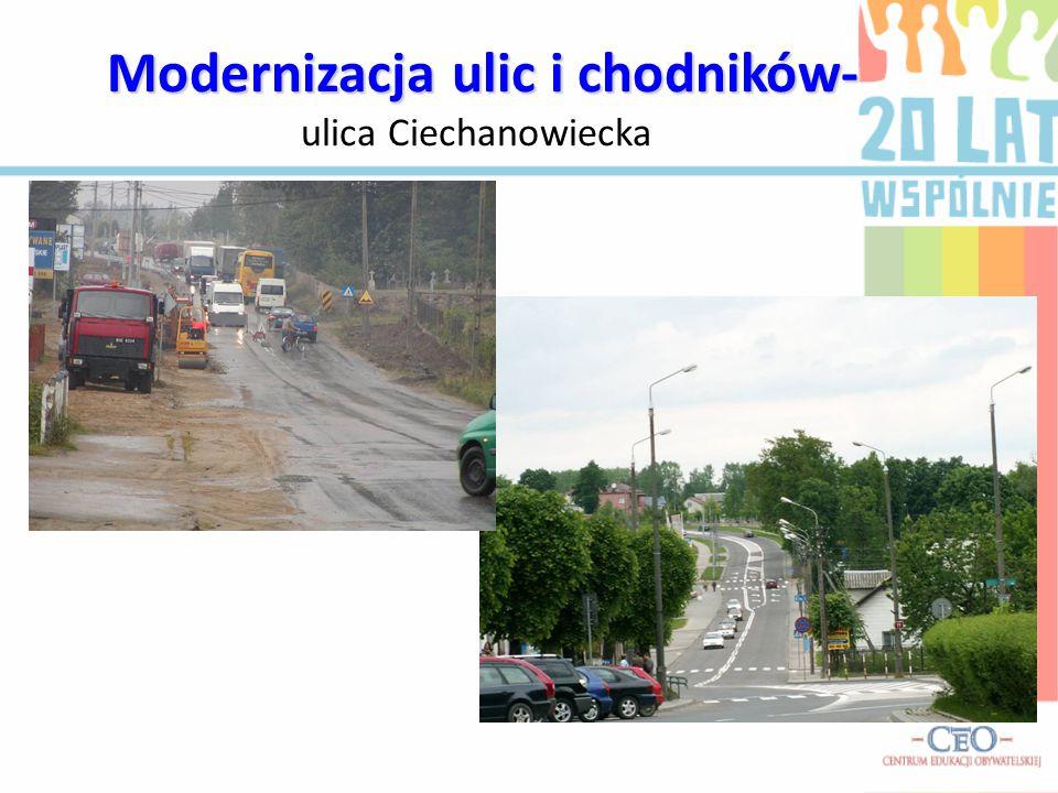 Modernizacja ulic i chodników- ulica Ciechanowiecka