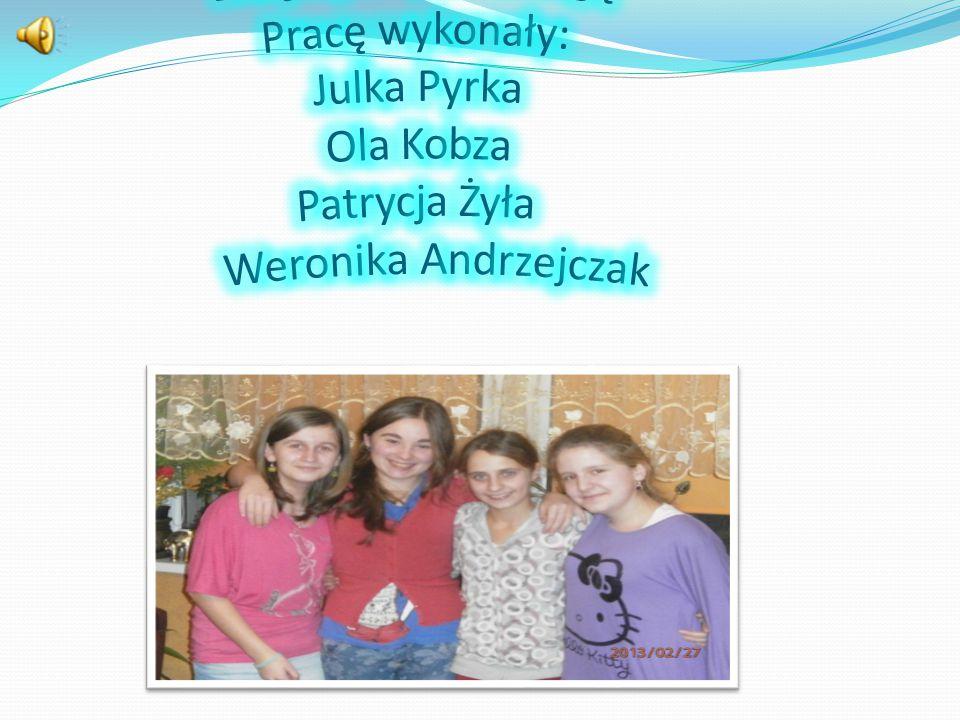Dziękujemy za uwagę Pracę wykonały: Julka Pyrka Ola Kobza Patrycja Żyła Weronika Andrzejczak