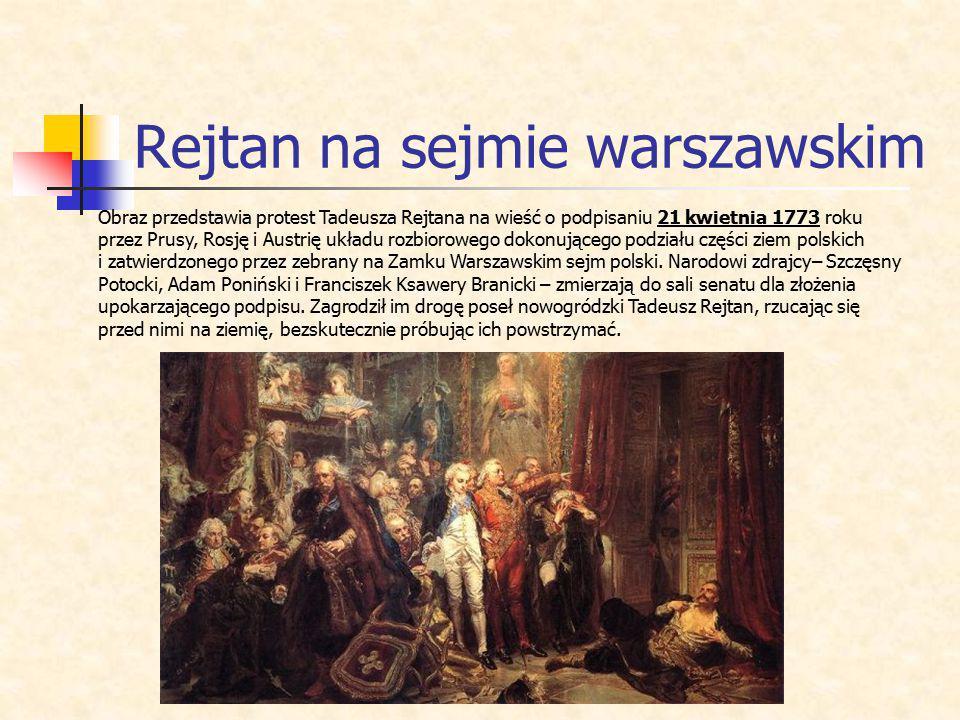 Rejtan na sejmie warszawskim