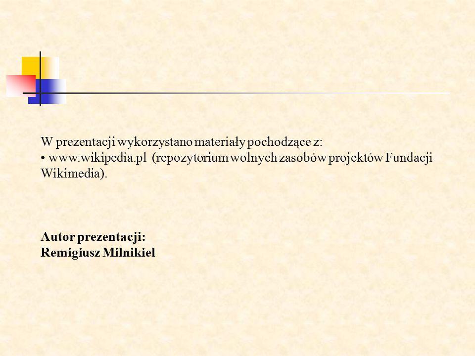 W prezentacji wykorzystano materiały pochodzące z: