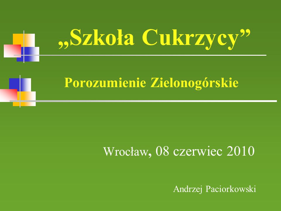 """""""Szkoła Cukrzycy Porozumienie Zielonogórskie"""