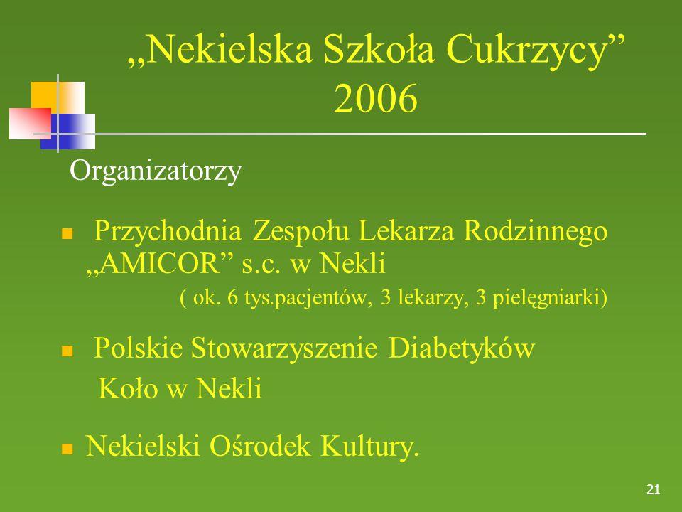"""""""Nekielska Szkoła Cukrzycy 2006"""