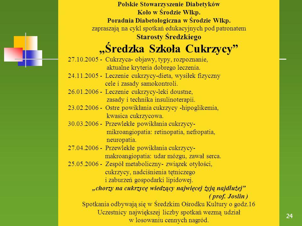 """""""Średzka Szkoła Cukrzycy"""