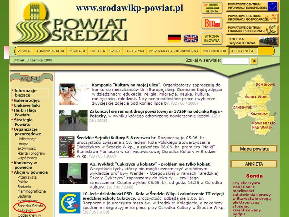 www.srodawlkp-powiat.pl Streszczenia dostępne są też na stronie internetowej powiatu