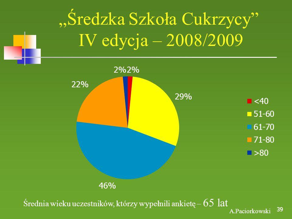 """""""Średzka Szkoła Cukrzycy IV edycja – 2008/2009"""