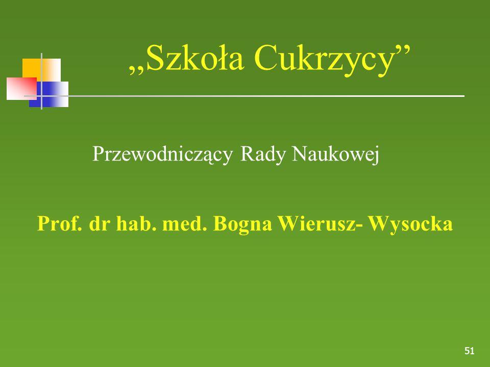 Prof. dr hab. med. Bogna Wierusz- Wysocka