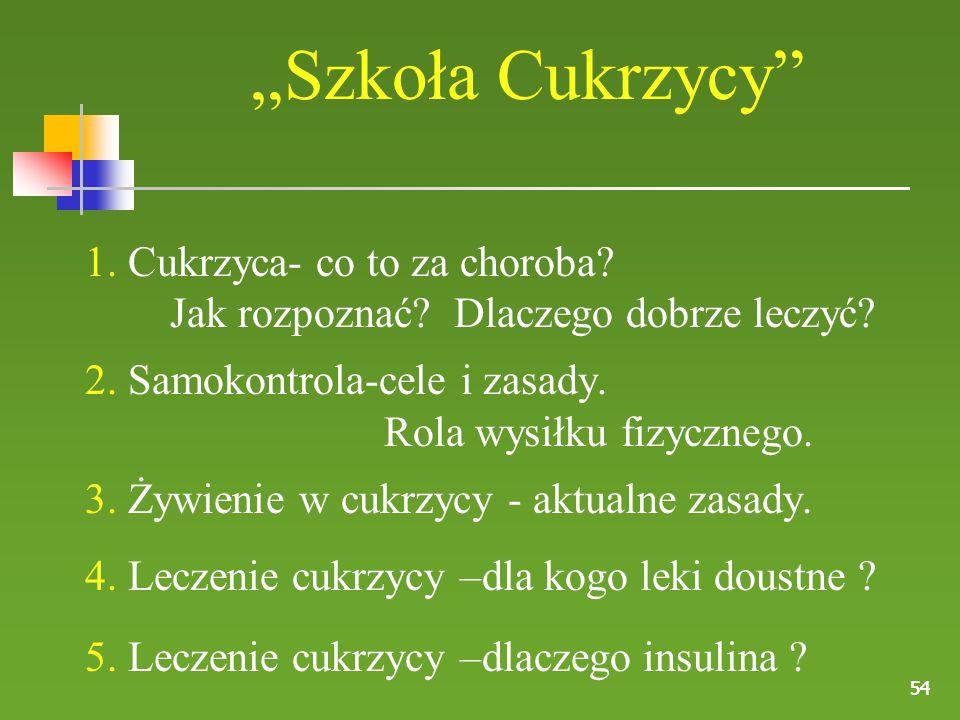 """""""Szkoła Cukrzycy 1. Cukrzyca- co to za choroba"""