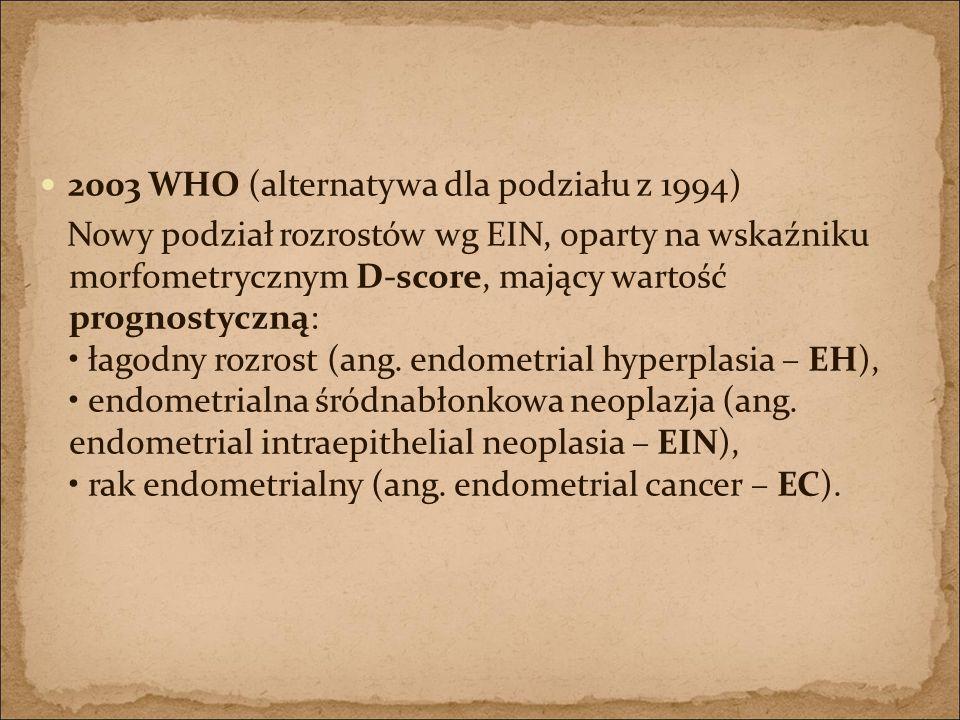 2003 WHO (alternatywa dla podziału z 1994)