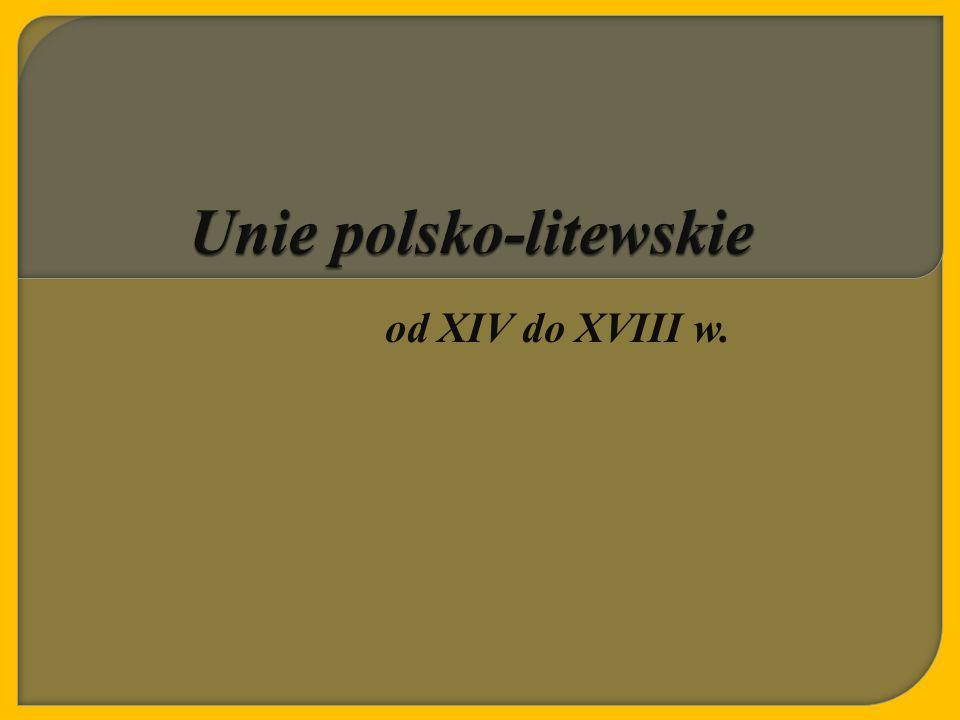 Unie polsko-litewskie