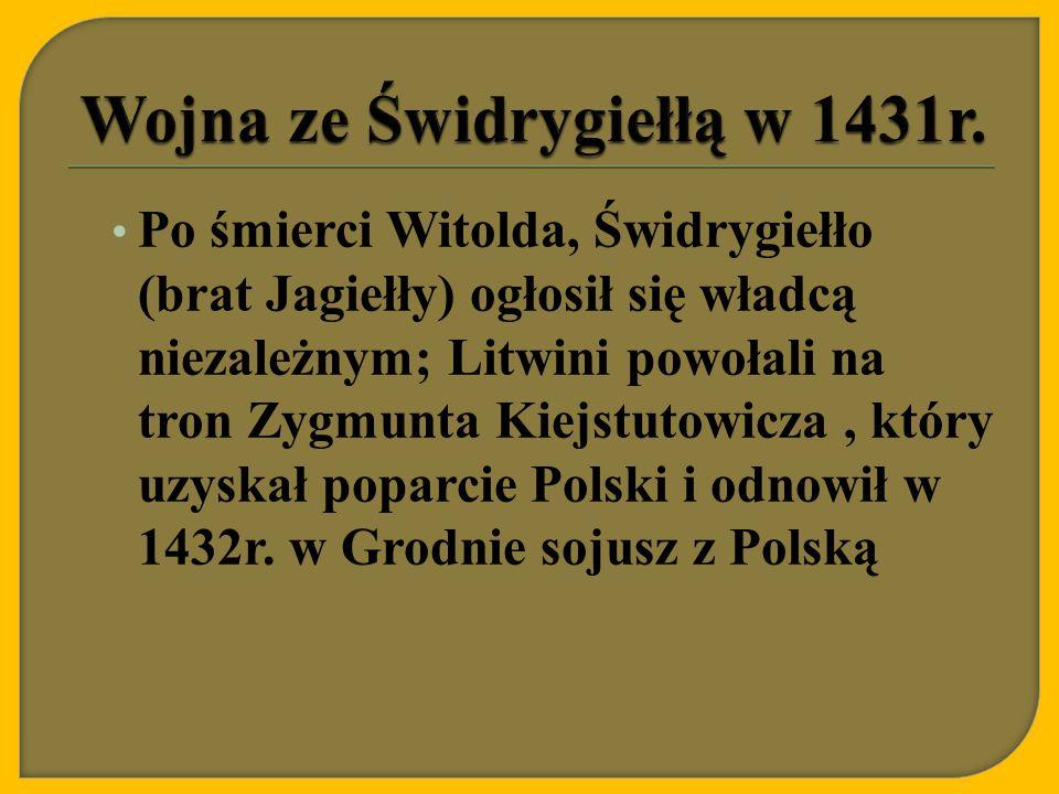 Wojna ze Świdrygiełłą w 1431r.