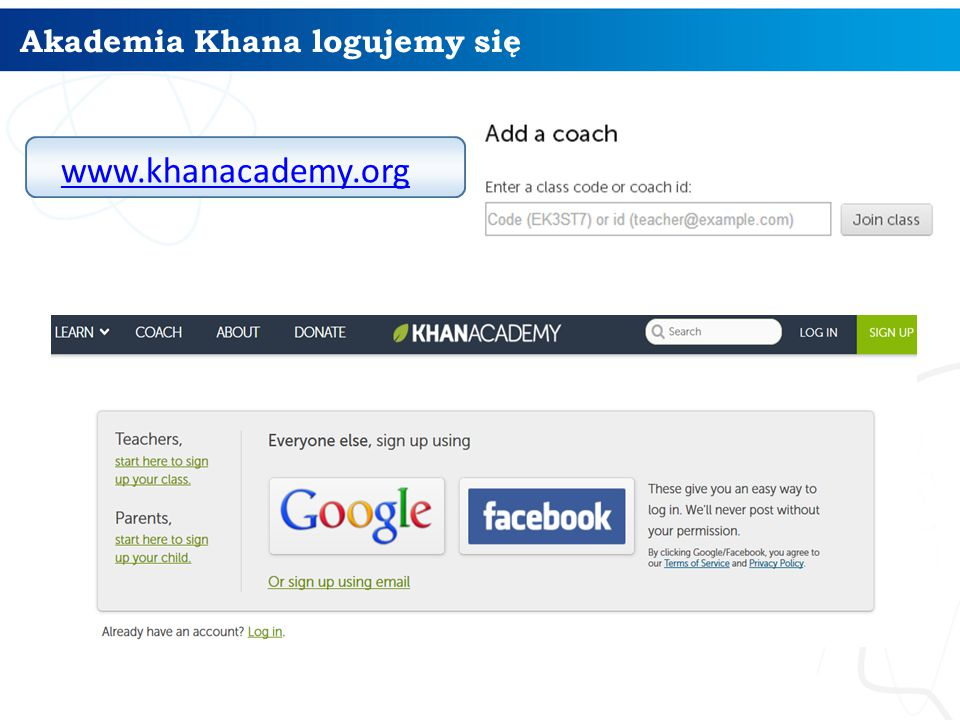 Akademia Khana logujemy się