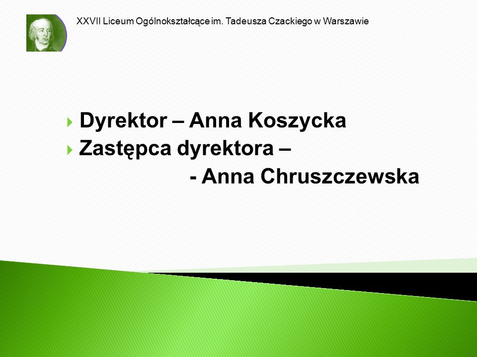 Dyrektor – Anna Koszycka