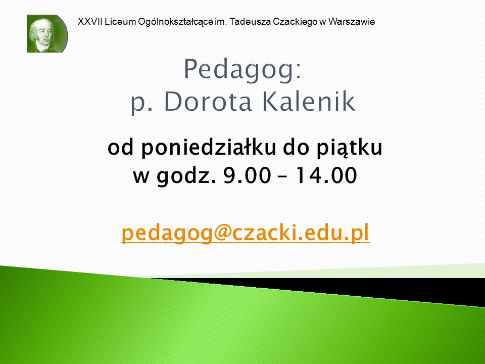 Pedagog: p. Dorota Kalenik