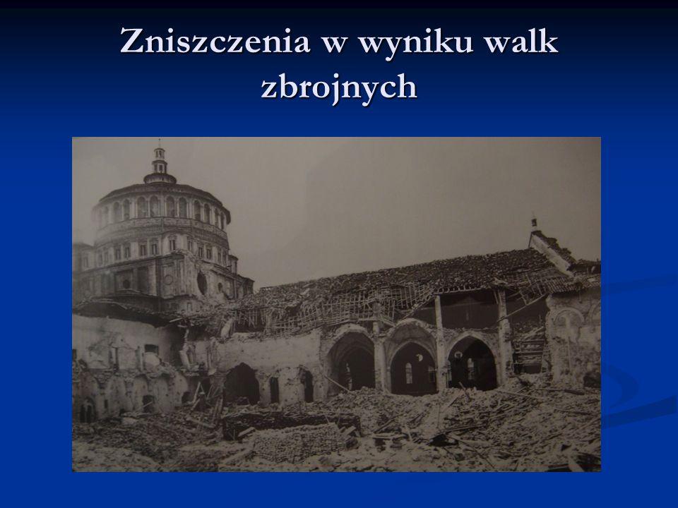 Zniszczenia w wyniku walk zbrojnych