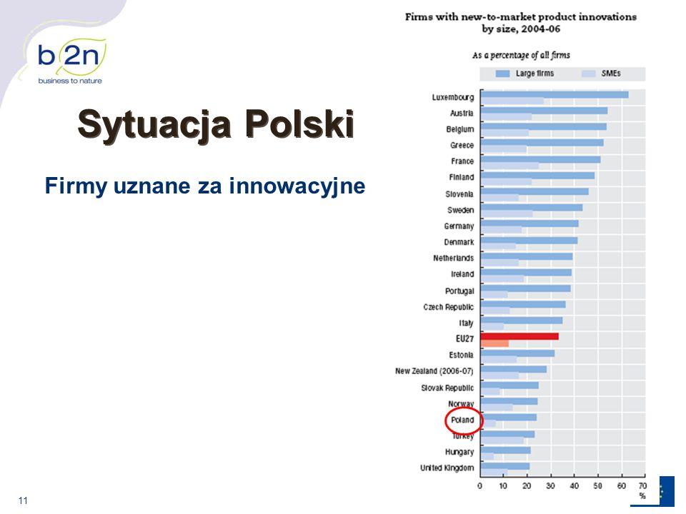 Sytuacja Polski Firmy uznane za innowacyjne
