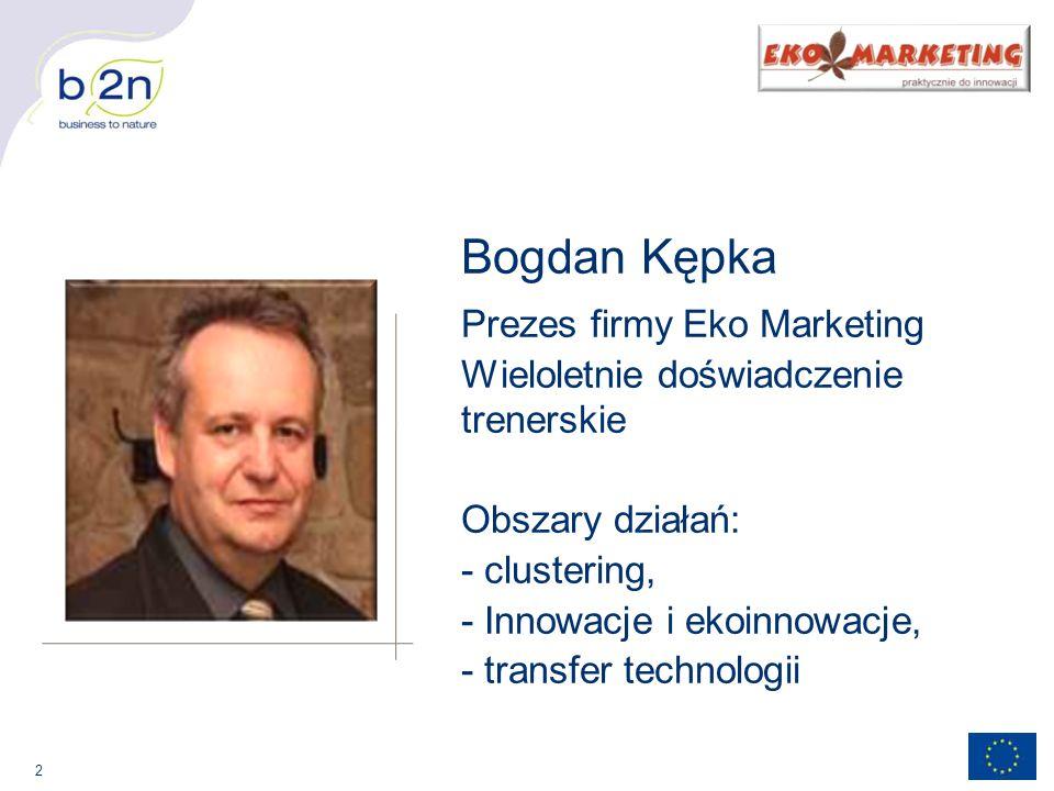 Bogdan Kępka Prezes firmy Eko Marketing