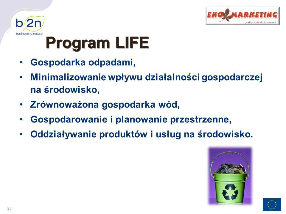 Program LIFE Gospodarka odpadami,
