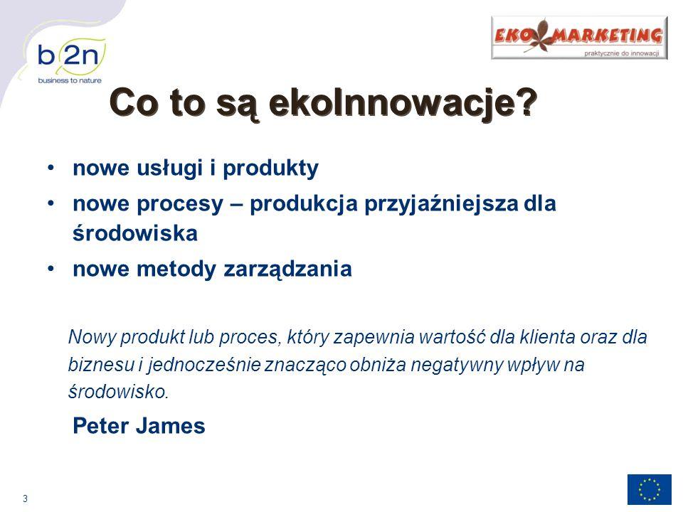 Co to są ekoInnowacje nowe usługi i produkty