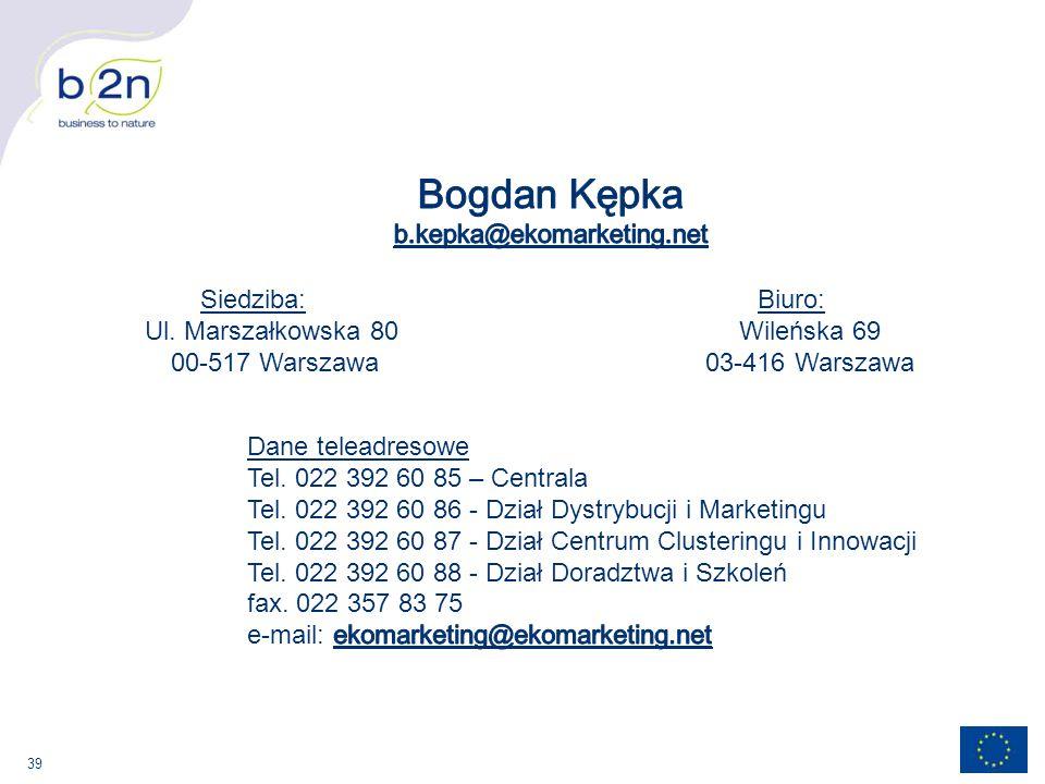 Bogdan Kępka b.kepka@ekomarketing.net