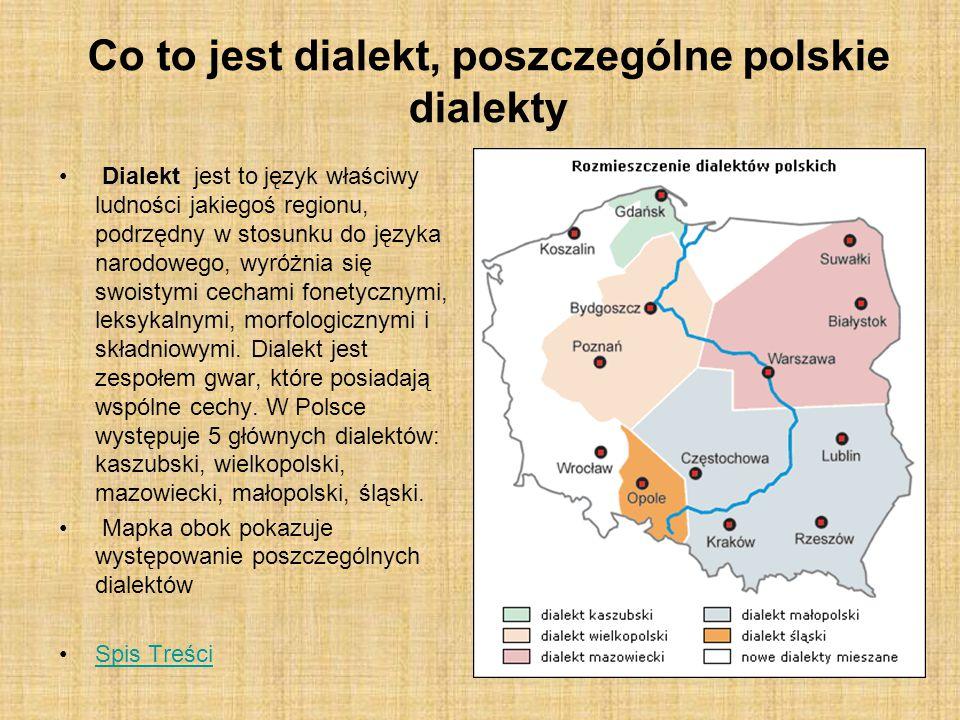 Co to jest dialekt, poszczególne polskie dialekty