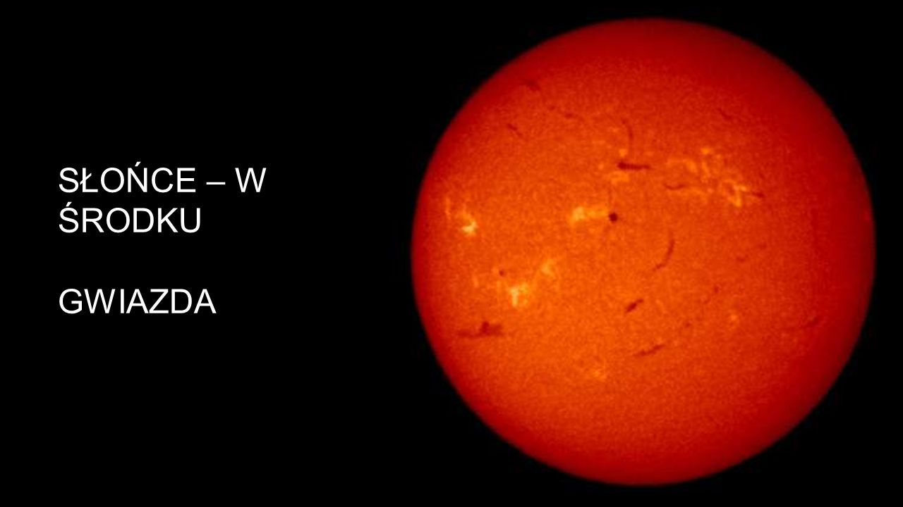 Słońce – w środku Gwiazda