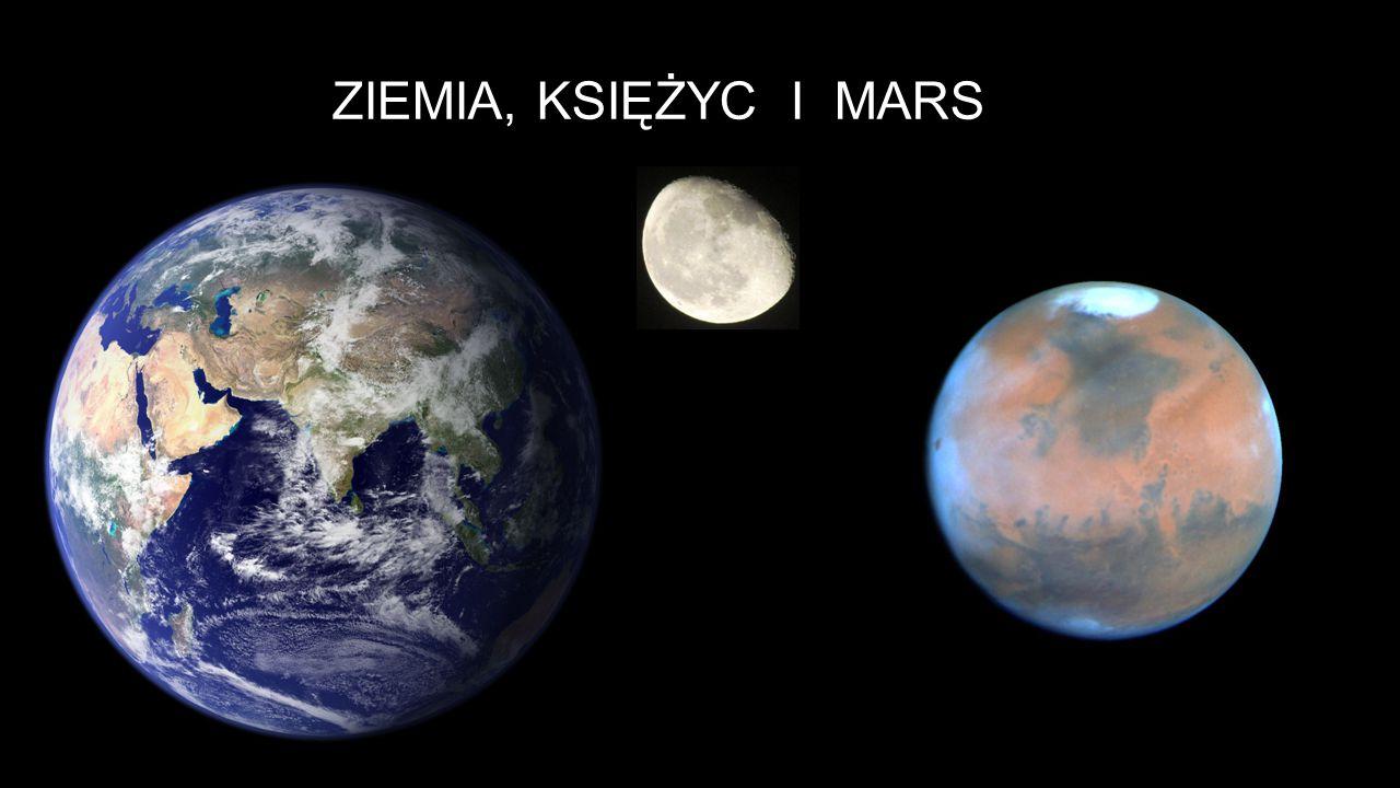 Ziemia, księżyc i mars