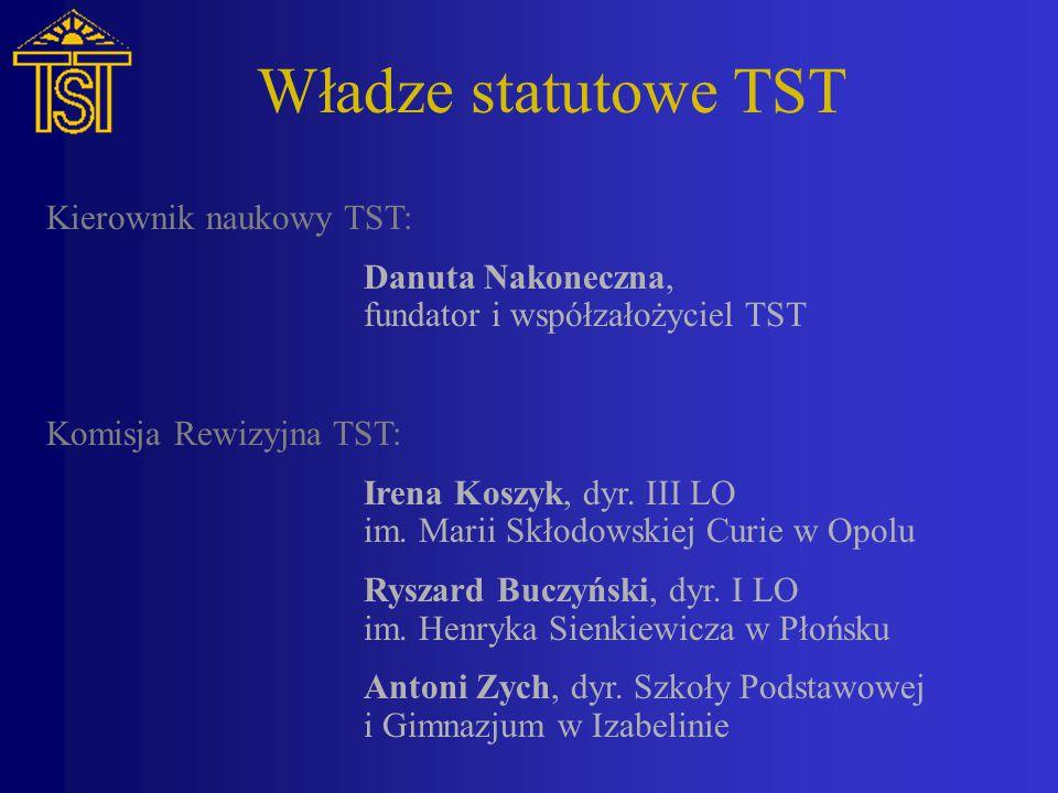 Władze statutowe TST Kierownik naukowy TST: