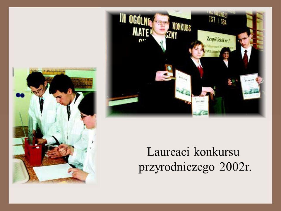 Laureaci konkursu przyrodniczego 2002r.